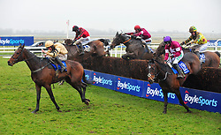 General Principle ridden by JJ Slevin (centre) jump the last before going on to win the BoyleSports Irish Grand National Chase during BoyleSports Irish Grand National Day of the 2018 Easter Festival at Fairyhouse Racecourse, Ratoath, Co. Meath.