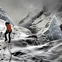 Climbers from Walking with the Wounded climb Everest.Photograph David Cheskin/Press Association.