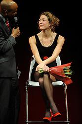 13-12-2010 ALGEMEEN: TOPSPORT GALA AMSTERDAM: AMSTERDAM<br /> In de Westergasfabriek werd het gala van de beste sportman, -vrouw, coach en ploeg gekozen / Yvonne Hak <br /> ©2010-WWW.FOTOHOOGENDOORN.NL
