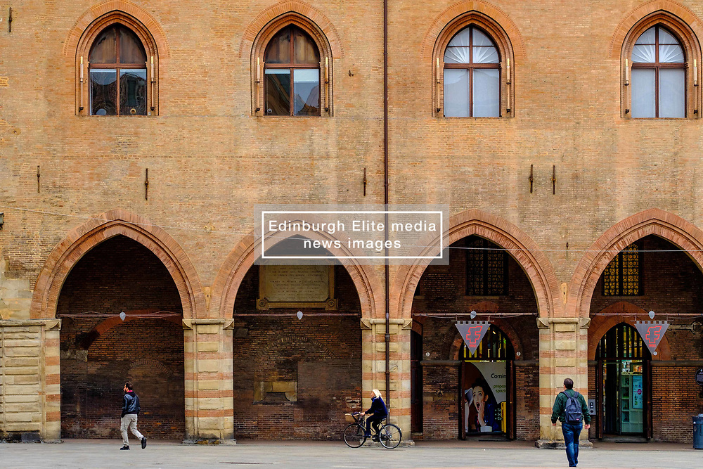 The Palazzo d'Accursio, Bologna, Italy.  Town hall complex dating from the 14th century, home to a fresco-filled chapel & fine art museum.<br /> <br /> (c) Andrew Wilson | Edinburgh Elite media