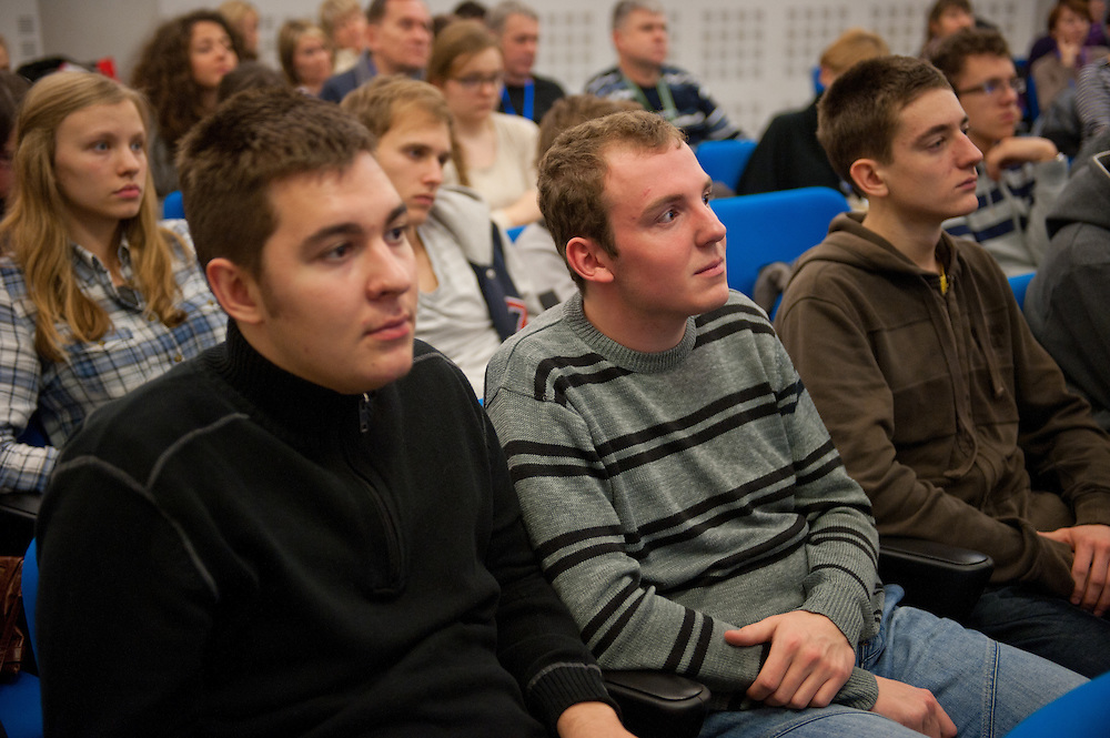 During the lecture by Dr. Slawomir Wronka - Accelerators and medicine