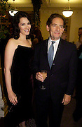 Nigella Lawson and her father Nigel Lawson, 'Feast Food that celebrates Life' by Nigella Lawson book launch. Cadogan Hall, Sloane Terace. 11 October 2004. ONE TIME USE ONLY - DO NOT ARCHIVE  © Copyright Photograph by Dafydd Jones 66 Stockwell Park Rd. London SW9 0DA Tel 020 7733 0108 www.dafjones.com<br /> Nigella Lawson and her father Nigel Lawson, 'Feast Food that celebrates Life' by Nigella Lawson book launch. Cadogan Hall, Sloane Terace. 11 October 2004. ONE TIME USE ONLY - DO NOT ARCHIVE  © Copyright Photograph by Dafydd Jones 66 Stockwell Park Rd. London SW9 0DA Tel 020 7733 0108 www.dafjones.com