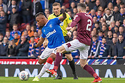 Alfredo Morelos of Rangers FC during the Betfred Scottish League Cup semi-final match between Rangers and Heart of Midlothian at Hampden Park, Glasgow, United Kingdom on 3 November 2019.