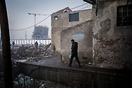 A migrant is seen going to take some fresh water in the morning. Belgrade, Serbia. January 16th 2017. Federico Scoppa