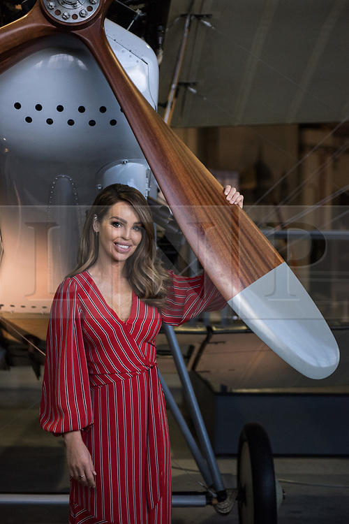 © Licensed to London News Pictures. 21/11/2018. London, UK.  <br /> TV presenter and Strictly Come Dancing star Katie Piper poses for a photograph in front of a RAF RE8 aircraft in the Royal Air Force Museum London to launch the National Lottery's Thanks To You campaign in London, England on November 21, 2018. The Thanks To You promotion which runs from December 3 until December 9 sees venues, which have received Lottery funding, offering free offers and/or free entry to people in possession of a National Lottery ticket. Some of the UK's best-loved venues will be taking part, including: the Natural History Museum, Science Museum, Kew Gardens, Eden Project, Jodrell Bank, the National Railway Museum, V&A Dundee, National Museum Wales and over 100 National Trust sites.  Photo credit: Oli Scarff/LNP
