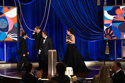 Jaime Baksht, Phillip Bladh, Carlos Cortés and Michelle Couttolenc accept the Oscar® for Sound during the live ABC Telecast of The 93rd Oscars® at Union Station in Los Angeles, CA, USA on Sunday, April 25, 2021. Photo by Todd Wawrychuk/A.M.P.A.S. via ABACAPRESS.COM