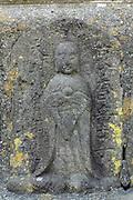 Sekibutsu, stone Buddha, late Edo period