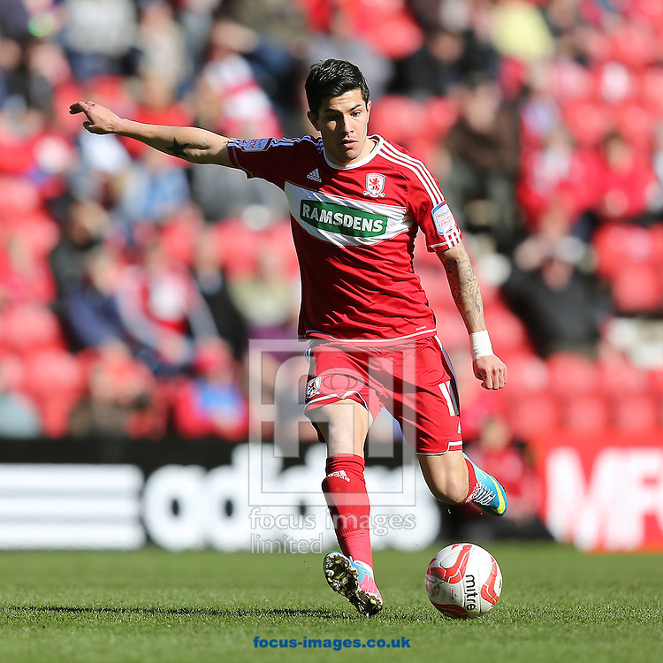 Picture by Paul Gaythorpe/Focus Images Ltd +447771 871632.27/04/2013.Emmanuel Ledesma of Middlesbrough during the npower Championship match at the Riverside Stadium, Middlesbrough.