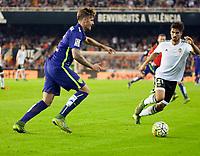Valencia's Andre Gomes and Malaga CF's Albentosa during La Liga match. October 17, 2015. (ALTERPHOTOS/Javier Comos)