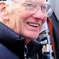 Pittsburgh Steelers owner Dan Rooney smiles as he looks over the crowd at the victory parade  for the winners of Super Bowl XLIII in Pittsburgh, on February 3, 2009.  The Steelers defeated the Arizona Cardinals  in Super Bowl XLIII 27-23.       (UPI Photo/Archie Carpenter)