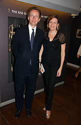 The EARL & COUNTESS OF WOOLTON at the opening reception of 'Bejewelled by Tiffany 1837-1987' at The Gilbert Collection, Somerset House, London on 21st June 2006.