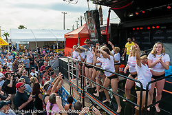 Wet T-Shirt competition at Dirty Harry's Saloon on Main Street during Daytona Bike Week. FL, USA. March 11, 2014.  Photography ©2014 Michael Lichter.