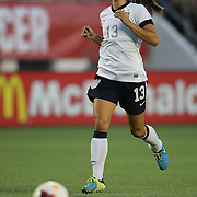 U.S. forward Alex Morgan (13) during a women's soccer International friendly match between Brazil and the United States National Team, at the Florida Citrus Bowl  on Sunday, November 10, 2013 in Orlando, Florida. The U.S won the game by a score of 4-1.  (AP Photo/Alex Menendez)