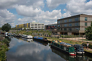 Over looking Regents Canal at Hackney Wick on the 25th May 2019 in London in the United Kingdom.