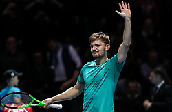 2017?11?17?.    ?????7???——ATP????????????.       11?17???????????.       ???????????ATP???????????????????????????2?0??????????.       ???????????????.(SP) BRITAIN-LONDON-TENNIS-ATP FINALS-GOFFIN VS THIEM.(171117) -- LONDON, Nov. 17, 2017  David Goffin of Belgium celebrates victory during the singles round-robin match against Dominic Thiem of Austria during the Nitto ATP World Tour Finals at O2 Arena in London, Britain on Nov. 17, 2017. David Goffin won 2-0. (Credit Image: © Tang Shi/Xinhua via ZUMA Wire)