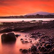 Red seashore Marbella