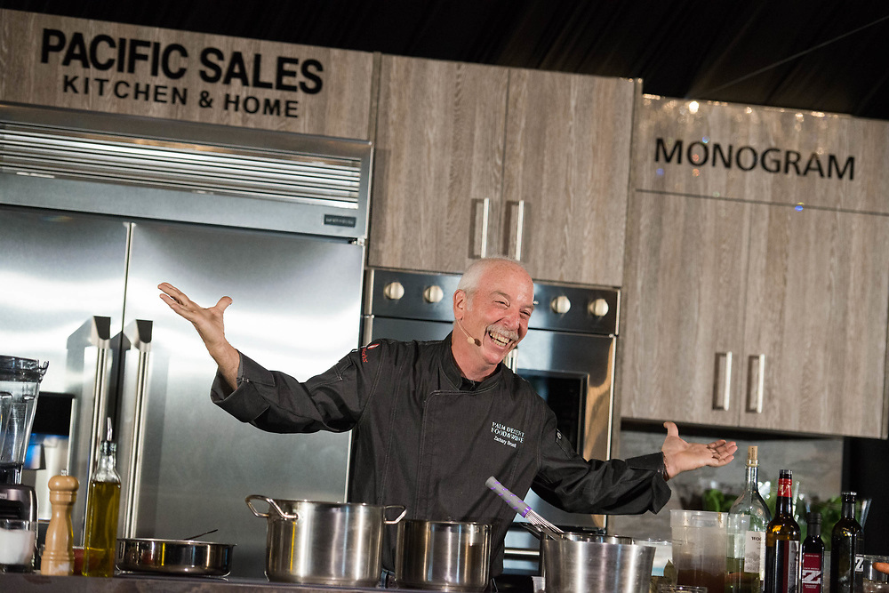 The 2018 Palm Desert Food and Wine Festival hosted by Palm Springs Life Magazine. Chef Zack Burrell gives a chef demo during the second day of Food & Wine. Photos by Tiffany L. Clark