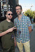 """June 2, 2012- Philadelphia, PA, United States: (L-R) J. Period and DJ Stretch Armstrong attend the 5th Annual ROOTS Picnic held at Festival Pier at Penn's Landing in Philadelphia, PA . The Roots is an American hip hop/neo soul band formed in 1987 by Tariq """"Black Thought"""" Trotter and Ahmir """"Questlove"""" Thompson in Philadelphia, Pennsylvania. They are known for a jazzy, eclectic approach to hip hop which includes live instrumentals. (Photo by Terrence Jennings)"""