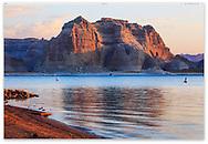 The Glen Canyon National Recreation Area and Lake Powell at Dawn, Page, Arizona, USA