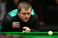 Mark Allen (NI) looking on. Marco Fu (HK) v Mark Allen (NI) , Quarter-Final match at the Dafabet Masters Snooker 2017, at Alexandra Palace in London on Thursday 19th January 2017.<br /> pic by John Patrick Fletcher, Andrew Orchard sports photography.