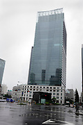 The renovated Kitte, The former Central Post Office building by Tokyo Station with new glass high rise tower