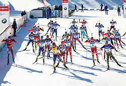 Anton Shipulin (RUS), Quentin Fillon Maillet (FRA), Martin Fourcade (FRA), Tarjei Boe (NOR), Simon Schempp (GER)  during Men 15 km Mass Start at day 4 of IBU Biathlon World Cup 2015/16 Pokljuka, on December 20, 2015 in Rudno polje, Pokljuka, Slovenia. Photo by Vid Ponikvar / Sportida