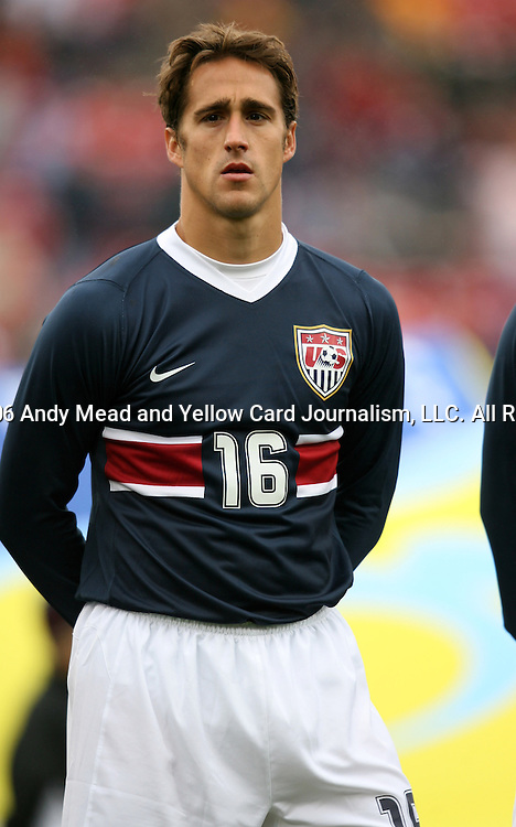 Josh Wolff, of the United States, as the U.S. debuts their new uniforms on Sunday, February 19th, 2005 at Pizza Hut Park in Frisco, Texas. The United States Men's National Team defeated Guatemala 4-0 in a men's international friendly.