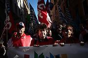 Susanna Camusso durante la manifestazione dei sindacati del servizio pubblico. Roma 08 Novembre 2014.  Christian Mantuano / OneShot