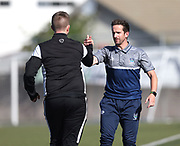 Lee Padmore Canterbury United head coach and Auckland City head coach Jose Figueira.<br /> ISPS Handa Men's Premiership football match between Canterbury United and Auckland City at English Park in Christchurch on Sunday 13 December 2020. © Copyright image by Martin Hunter / www.photosport.nz