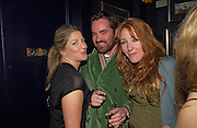 Rebeccah Green, Nick Haddow and Charlotte Tilbury, Tatler magazine Little Black Book party, Tramp. Jermyn St. 10 November 2004. ONE TIME USE ONLY - DO NOT ARCHIVE  © Copyright Photograph by Dafydd Jones 66 Stockwell Park Rd. London SW9 0DA Tel 020 7733 0108 www.dafjones.com