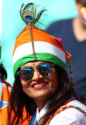 June 11, 2017 - London, United Kingdom - india Fans.during the ICC Champions Trophy match Group B between India and South Africa at The Oval in London on June 11, 2017  (Credit Image: © Kieran Galvin/NurPhoto via ZUMA Press)