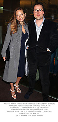 WILLIAM & EMILY TURNER she is a member of the De Beers diamond family, at a party in London on 15th May 2003.PJP 125