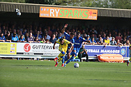 AFC Wimbledon midfielder Tom Soares (19) battles for possession during the EFL Sky Bet League 1 match between AFC Wimbledon and Bristol Rovers at the Cherry Red Records Stadium, Kingston, England on 19 April 2019.