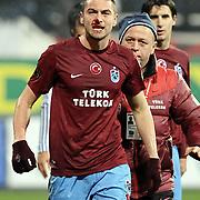 Trabzonspor's Burak YILMAZ during their Turkish Superleague Derby match Besiktas between Trabzonspor at the Inonu Stadium at Dolmabahce in Istanbul Turkey on Sunday, 06 March 2011. Photo by TURKPIX