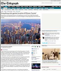 The Telegraph; Skyline of Hong Kong at dusk