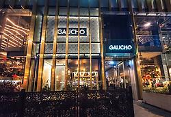 Night view of Gaucho restaurant in St Andrews Square in Edinburgh, Scotland, United Kingdom
