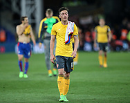 Arsenal's Mesut Ozil looks on dejected at the final whisle during the Premier League match at Selhurst Park Stadium, London. Picture date: April 10th, 2017. Pic credit should read: David Klein/Sportimage