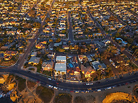 Aerial view of San Diego, USA.