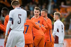 Oussama Idrissi of Jong Oranje 1-0 during the EURO U21 2017 qualifying match between Netherlands U21 and Latvia U21 at the Vijverberg stadium on October 06, 2017 in Doetinchem, The Netherlands
