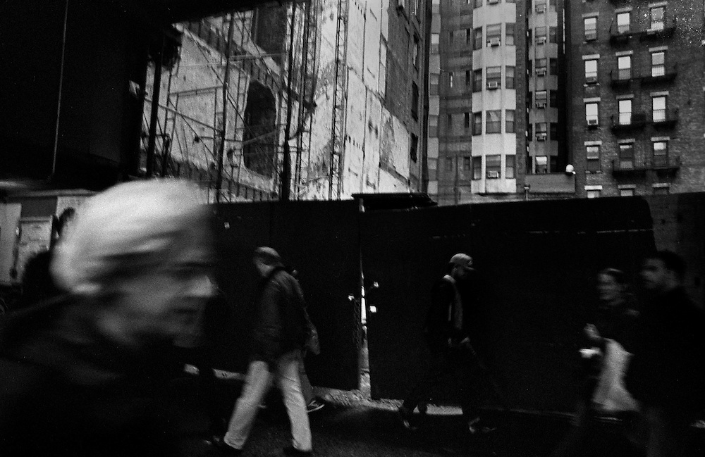 """Construction in Midtown...Part of long-term (2005-2008) story """"I See A Darkness"""". New York, NY."""