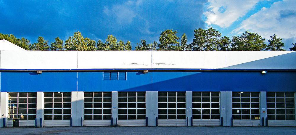 Auto repair shop garage doors
