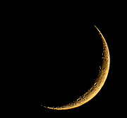 The moon crescent.
