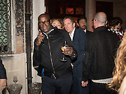 CHARLES ABOAH, Sarah Lucas- Scream Daddio party hosted by Sadie Coles HQ and Gladstone Gallery at Palazzo Zeno. Venice. 6 May 2015.
