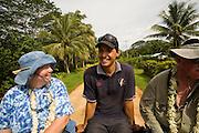 Truck tour, Aitu Island, Cook Islands, Polynesia