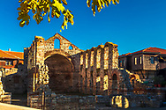 Ruins of middle age basillica in Old town Of Nessebar