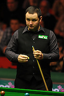 Stephen Maguire of Scotland in action during his match against Matthew Stevens of Wales. 888 Welsh open snooker day 4 action at the Newport Centre in Newport , South Wales on Thursday 16th Feb 2012.  pic by Andrew Orchard, Andrew Orchard sports photography,