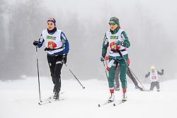 November 16, 2018 - BeitostØLen, NORWAY - 181116 Heidi Weng and Therese Johaug of Norway during warm up ahead of the women's 10km classic technique interval start during Beitosprinten 2018 on November 16, 2018 in Beitostølen..Photo: Vegard Wivestad Grøtt / BILDBYRÃ…N / kod VG / 170247 (Credit Image: © Vegard Wivestad GrØTt/Bildbyran via ZUMA Press)