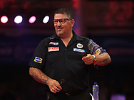 Gary Anderson during the PDC BetVictor World Matchplay Darts 2021 tournament at Winter Gardens, Blackpool, United Kingdom on 21 July 2021.