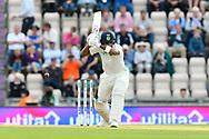 KL Rahul of India leaves the ball bowled by James Anderson of England during the first day of the 4th SpecSavers International Test Match 2018 match between England and India at the Ageas Bowl, Southampton, United Kingdom on 30 August 2018.