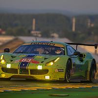 #83, DH Racing, Ferrari 488 GTE, driven by: Tracy Krohn, Niclas Jonsson, Andrea Bertolini, 24 Heures Du Mans 85th Edition, 18/06/2017,